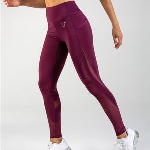 Gymshark Sleek Sculpture Leggings 2.0 - Dark Ruby